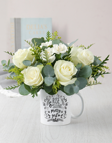 flowers: Pretty Girl Mug Arrangement!