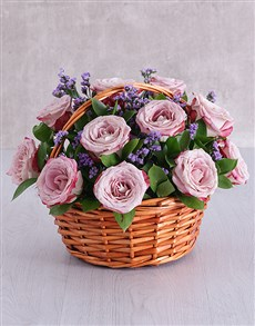flowers: Variegated Rose and Latifolia Basket!