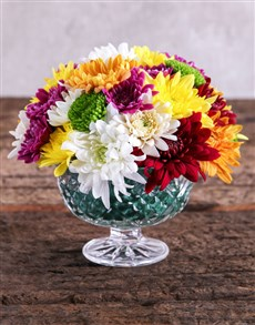 flowers: Colourful Sprays Bowl!