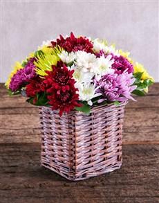 flowers: Mixed Sprays in Brown Basket!