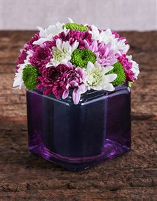 flowers: Purple Passion Sprays Arrangement!