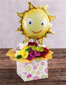 flowers: Sunny Balloon and Sprays in Spring Box!