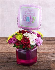 flowers: Baby Girl Balloon and Sprays Gift!
