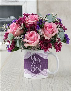 flowers: You Are The Best Rose Mug Arrangement!
