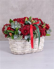 flowers: Red Sympathy Basket!