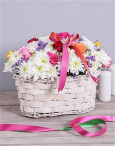 flowers: Mixed Sympathy Basket!