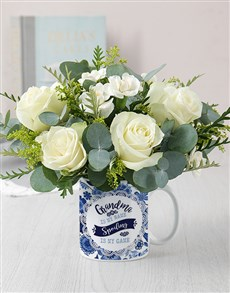 flowers: Grandma Mug Arrangement!