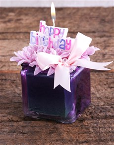 flowers: Happy Birthday Candle and Sprays Gift!