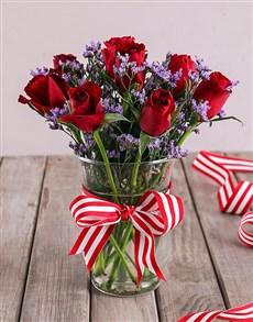 flowers: Hurricane Rose Arrangement!
