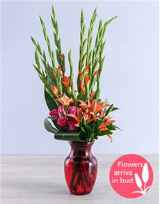 flowers: Red Gladiolus Dream Vase!