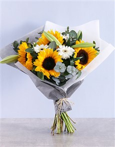 flowers: Sunflower and Gerbera Bouquet!