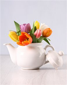flowers: Tulips in a Teapot!