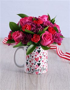 flowers: Cerise Love Arrangement!