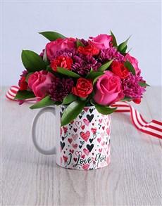 flowers: Cerise Love Arrangement!