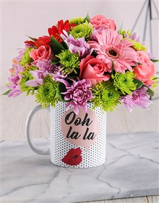 flowers: Ooh La La Mug Arrangement!