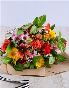 flowers: Eccentric Mixed Bouquet!