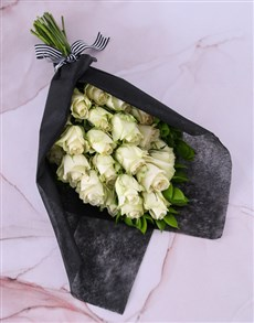 flowers: Pure White Rose Bouquet!
