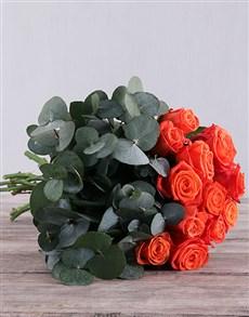 flowers: Fiery Orange Roses!