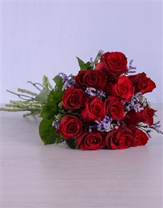 flowers: Red Roses Wrapped in Purple!