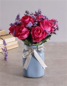 flowers: Dreamy Pink Rose Arrangement!