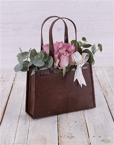 flowers: Purple Rose Handbag!