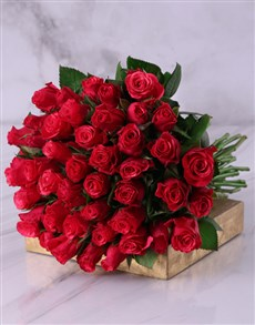 flowers: 50 Shades of Cerise Rose Bouquet!