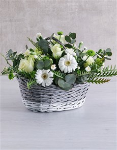 flowers: Wonderful White Flower Basket!