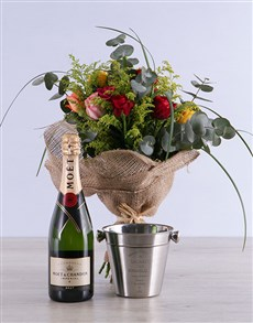 flowers: Mixed Rose and Alcohol Combo!