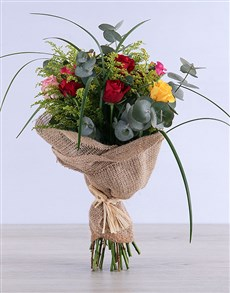 flowers: Exotic Mixed Rose Bouquet!