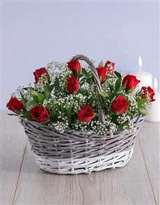 flowers: Two Tone Basket Arrangement!