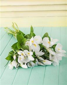 flowers: White Iris Bouquet!