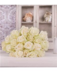flowers: White Premium Rose Bouquet!