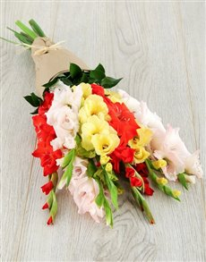 flowers: Mixed Gladiolus Bouquet!