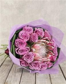 flowers: King Protea, Rose & Aspedistra Bouquet!