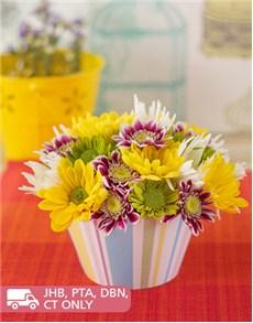 flowers: Chrysanthemum Flower Cupcake!