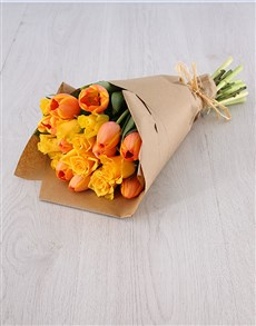flowers: Tulips & Yellow Roses!