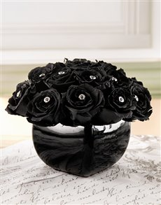 flowers: Black Rose In a Black Pot!