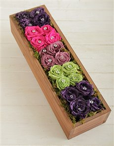flowers: Rainbow Rose Box!