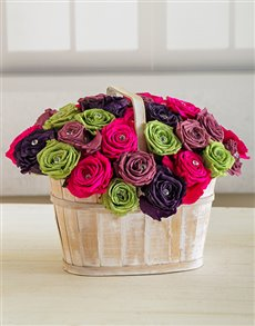 flowers: Spring Fling Rose Basket!