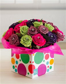 flowers: Glittering Bubbly Box !