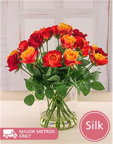 flowers: Mix Silk Alicia Roses!