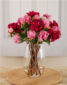 flowers: Pink and Cerise Peonies in a Vase!