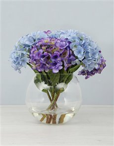 flowers: Hydrangea in a Fishbowl Vase!
