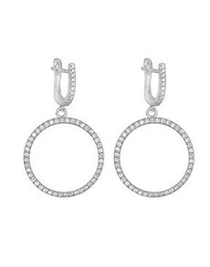 jewellery: Silver 925 Drop Circle 108 Cubic of life Earrings!
