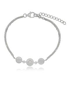 jewellery: Silver Round Circle Cubic Bracelet!