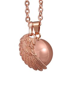 gifts: Shiroko Harmony Bell Rose Gold Angel Wing Necklace!