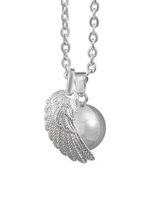 gifts: Shiroko Harmony Bell Silver Angel Wing Necklace!