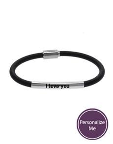 jewellery: Silver I Love You Rubber Bracelet!