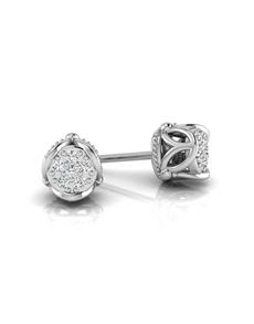 jewellery: WHY Silver Side Flower Design Diamond Studs!