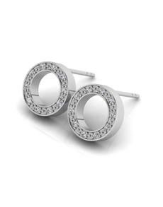 jewellery: WHY Sterling Silver Diamond Full Circle Earrings!